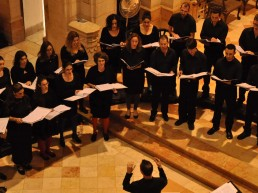 ADI CLASSICAL YOUNG CHOIR at the New Vocal Ensemble was established in 2006 by Yishai Shteckler and Goni Bar Sela. Since 2009, it performs under the baton of its musical director, conductor Oded Shomrony.
