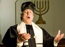 Kantor Isaac Sheffer singend in der Synagoge Pestalozzistraße
