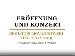 Eröffnung und Konzert 2019 Video Mitschnitt